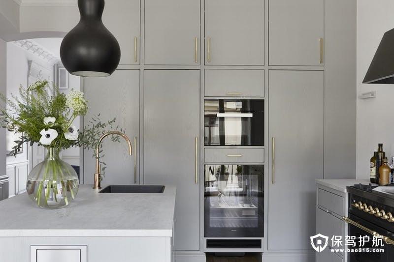 灰色厨房效果图