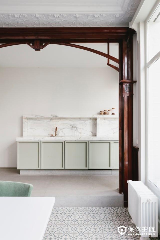 薄荷绿厨房设计装修效果图