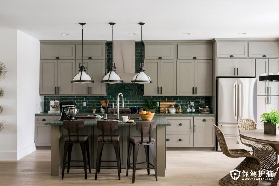 厨房橱柜选择什么颜色比较好?那些亮眼吸睛的厨房橱柜效果图