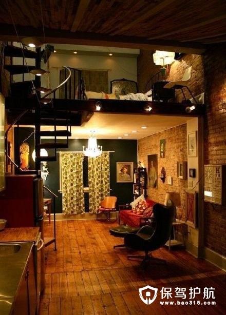 下厅上床的loft风公寓设计