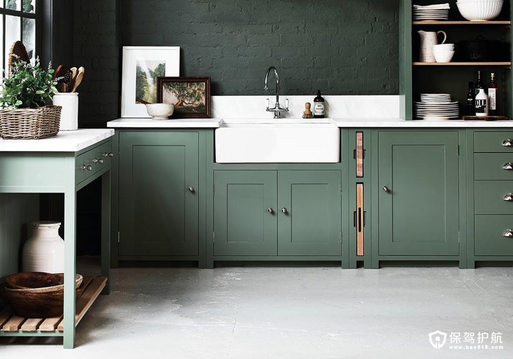 薄荷绿厨房颜色设计装修效果