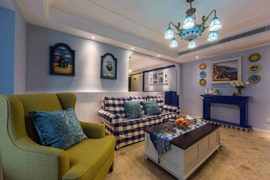 地中海风格小区: 【都都装饰】地中海小清新户型: 三居室装修预算