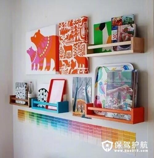 儿童房展示书架