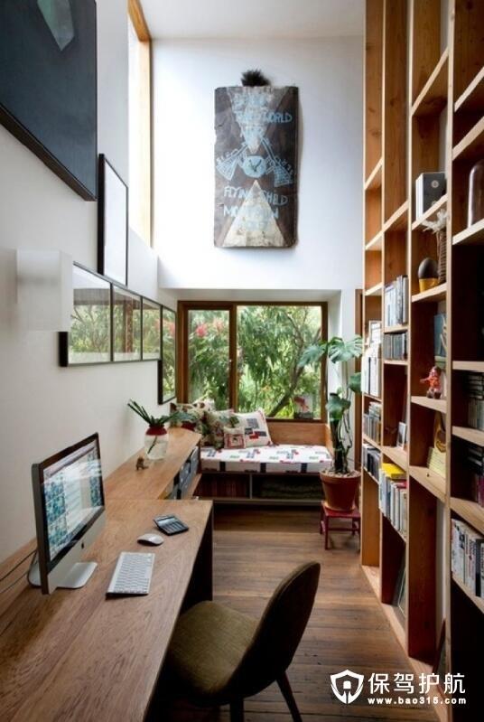 干净利落的书房设计