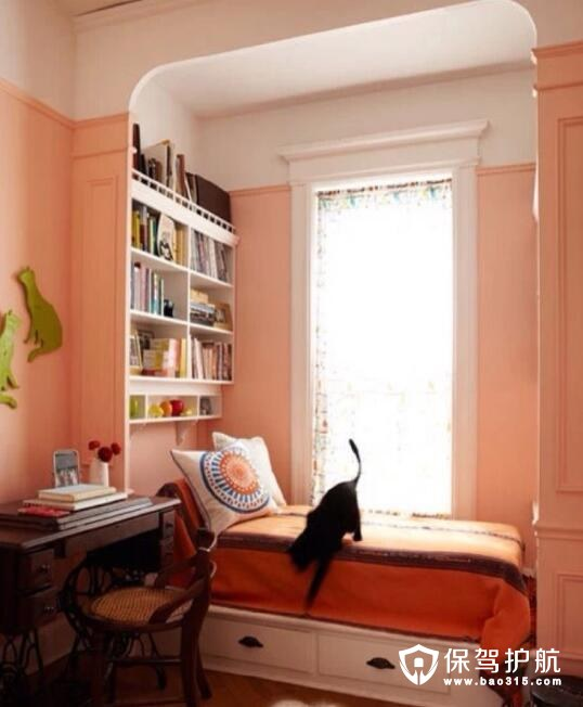 书房装修甜蜜色彩搭配