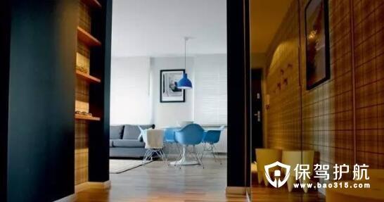 波兰经典格纹元素复古宜家风公寓设计