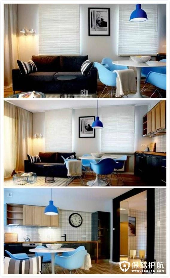 波兰经典格纹元素公寓设计