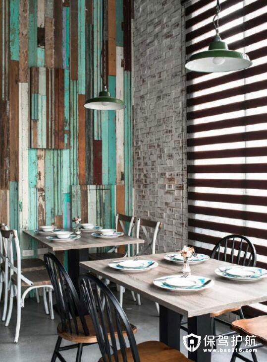 俏皮感与复古风餐厅设计