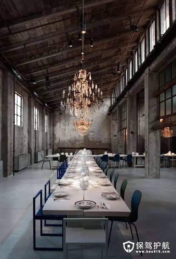 颓废之美复古风餐厅设计