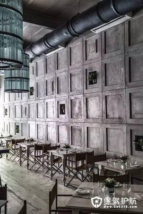 复古颓废之美餐厅设计