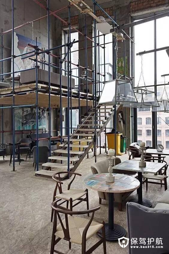 复古工业风餐厅设计