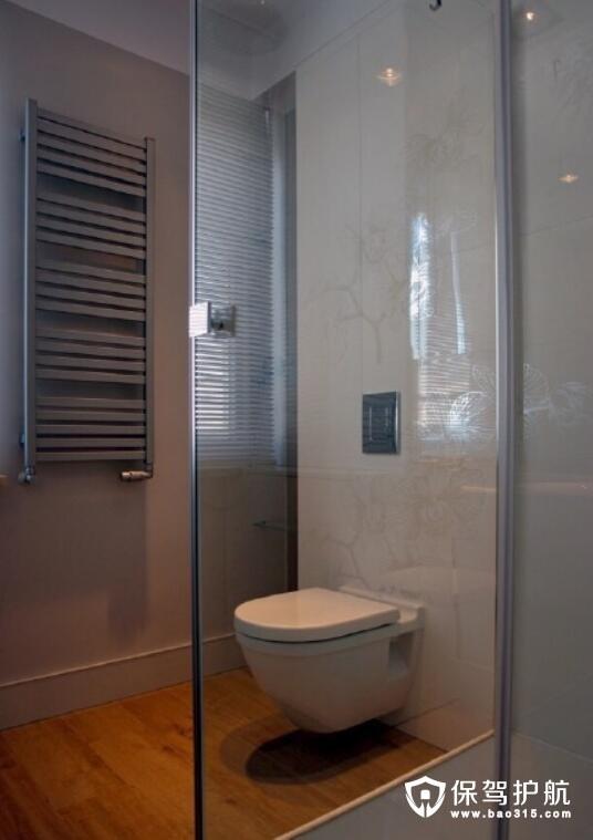 格纹元素复古卫浴设计