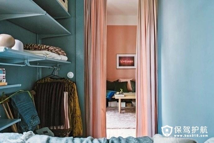 瑞典30平米单身公寓设计 小而美的粉色蜗居温馨浪漫