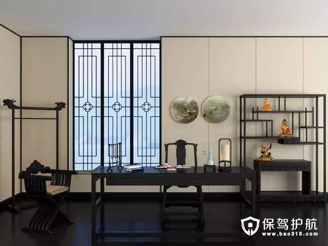 端庄素雅的新中式书房