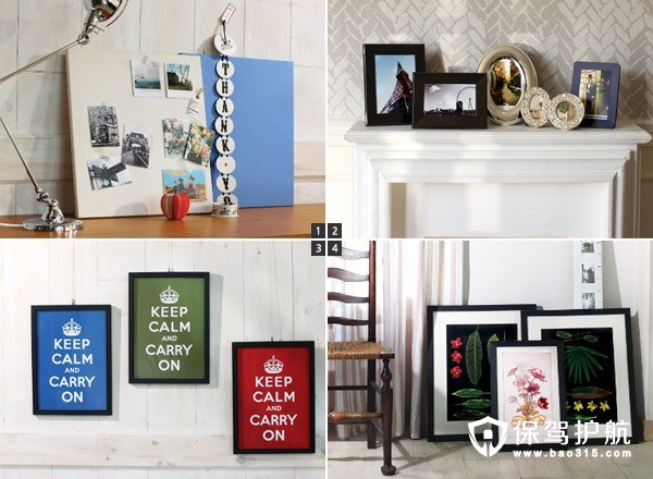 百元内家居DIY打造创意相框陈列设计