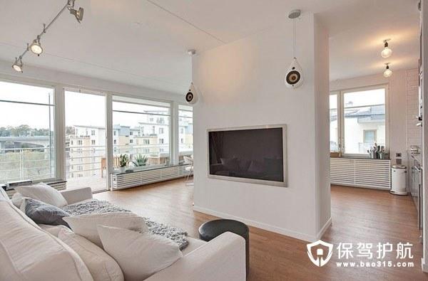 90㎡现代简约客厅设计 舒适随性