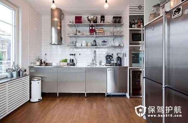 60㎡现代工业风厨房设计 惬意精致