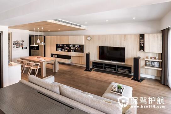 温暖和风 102㎡日式原木自然三居室设计