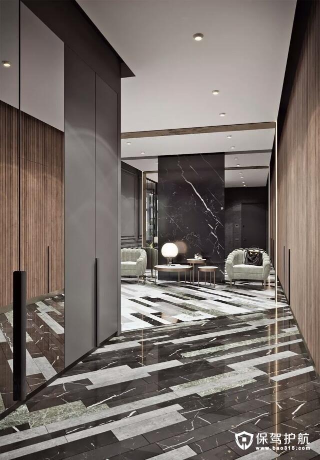 地板方形不规则排序的瓷砖效果