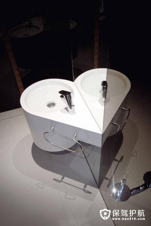 爱心状洗手台造型