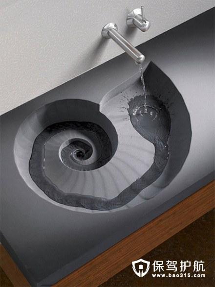 阶梯式旋涡洗手台设计