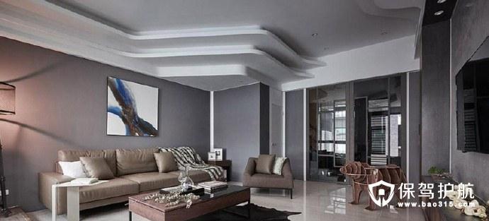 多层叠加吊顶设计 错落层次感营造现代时尚风格装修