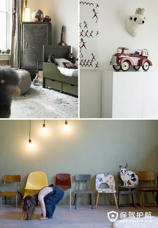 莫兰迪色系儿童房设计 柔和静谧