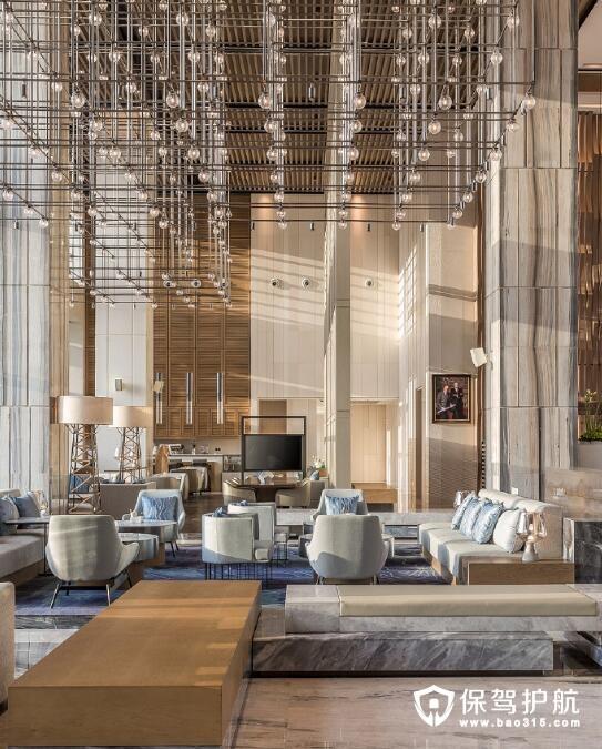 化繁为简的酒店大堂装修 打造中西合璧城海相融的度假天堂