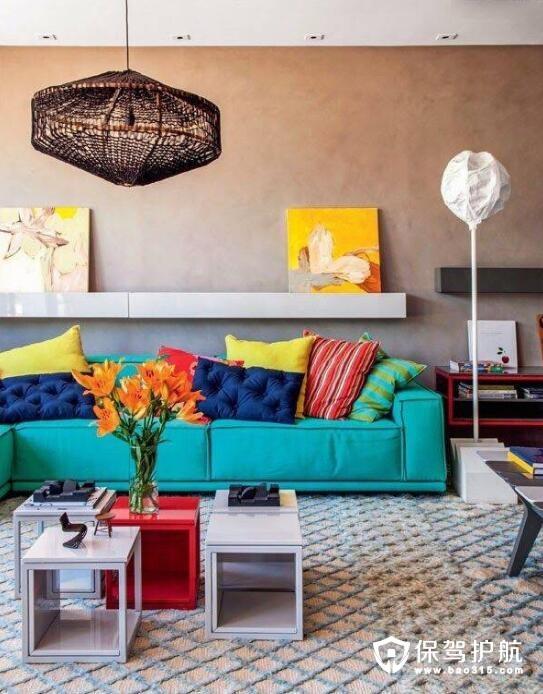 五彩斑斓客厅装修色调