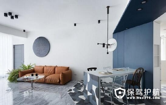 台湾现代风公寓 墨蓝装修色彩搭配打造清新范