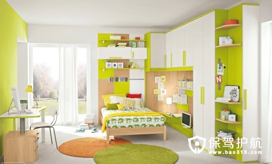 儿童房色彩搭配干货  开发宝宝想象力