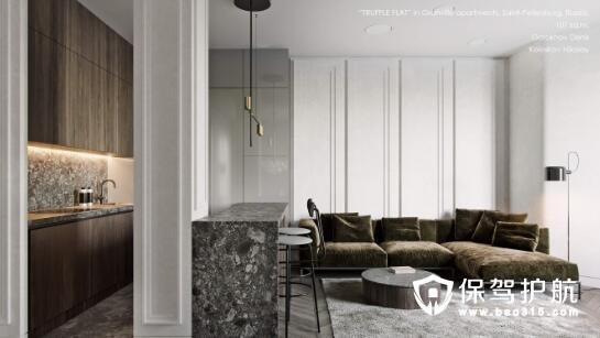 俄罗斯松露色调公寓设计 感受轻奢有质感的装修风格