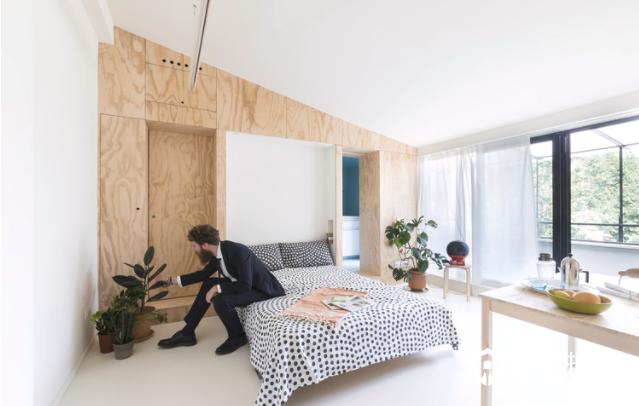 米兰28㎡小户型公寓改造可变形空间