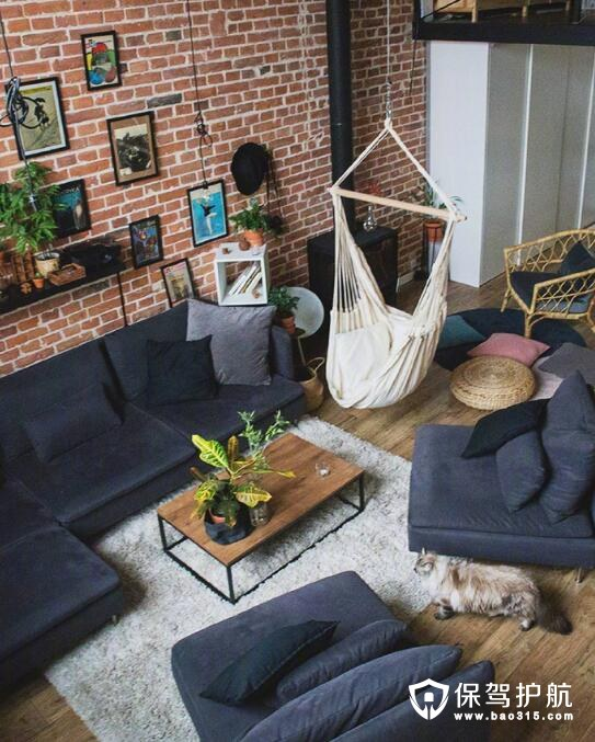 绿植+loft 充满春意的家居装扮