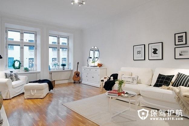 经典黑白设计 现代简约小户型客厅软装饰
