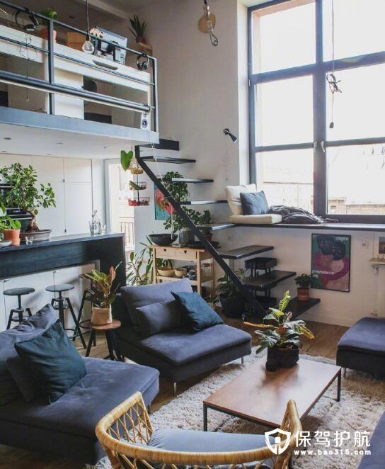 绿植loft公寓搭配