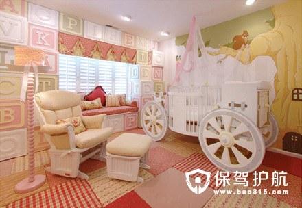 公主风儿童房设计