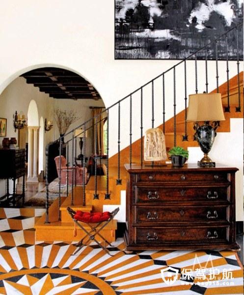 波普元素地毯  客厅品味提升不止一点点