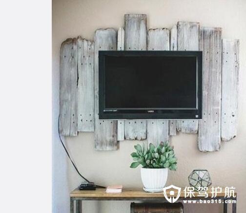 木头装饰电视背景墙