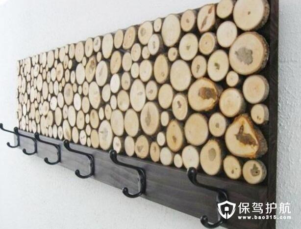 木头装饰衣帽架