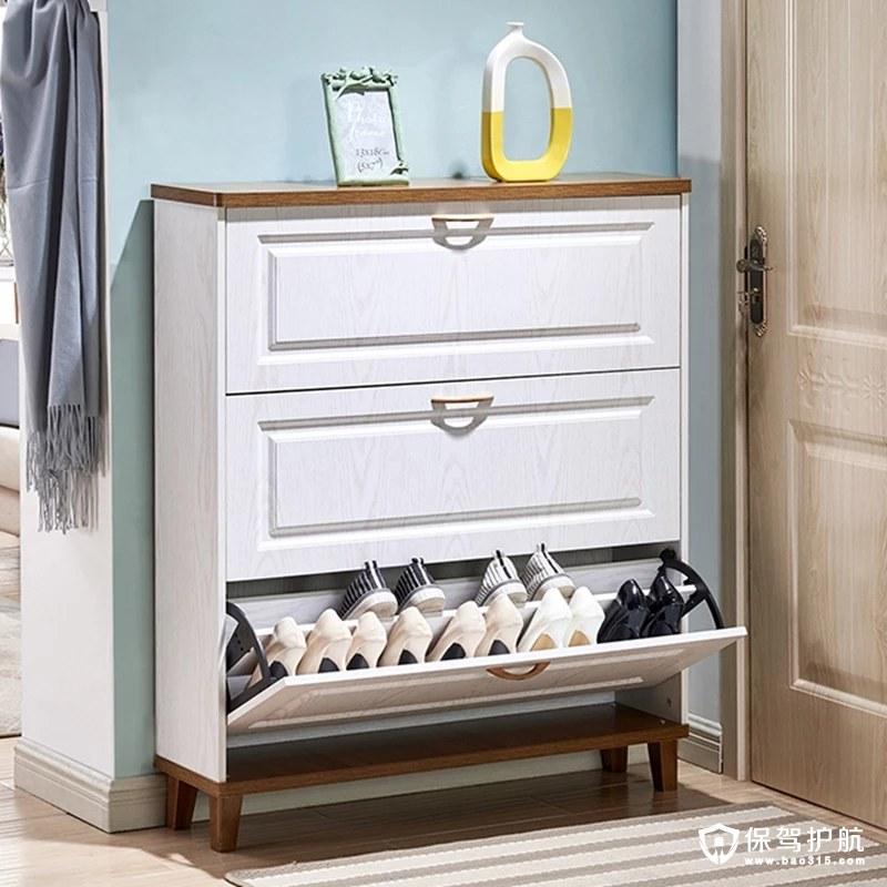 白色欧式鞋柜原木