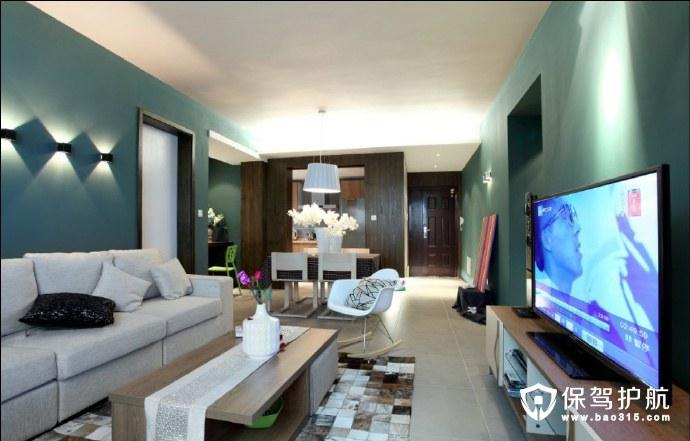 墨绿两室一厅精装,简约不简单