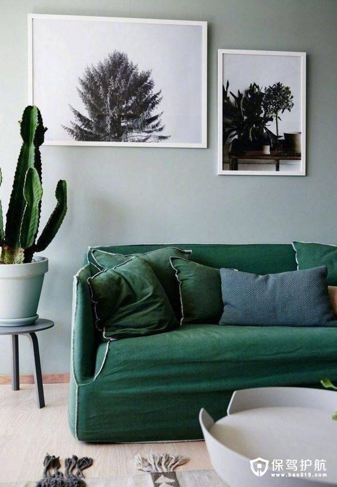 墨绿色沙发