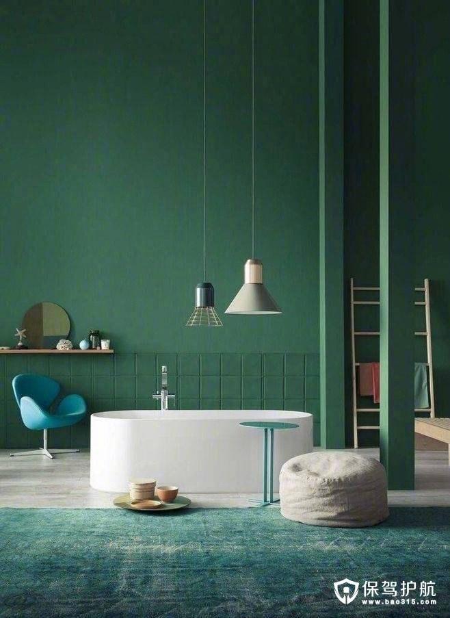 墨绿色卫浴