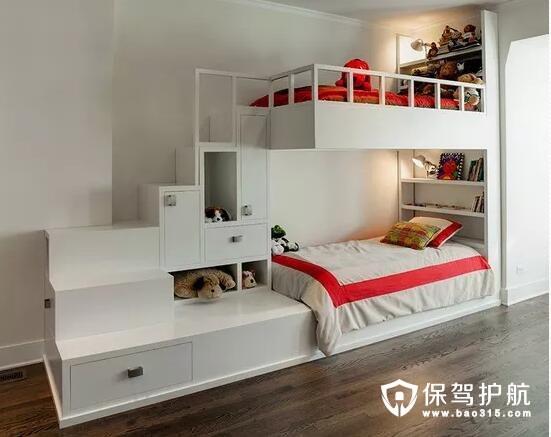 房间不够住?不妨给孩子一个这样的上下铺吧!