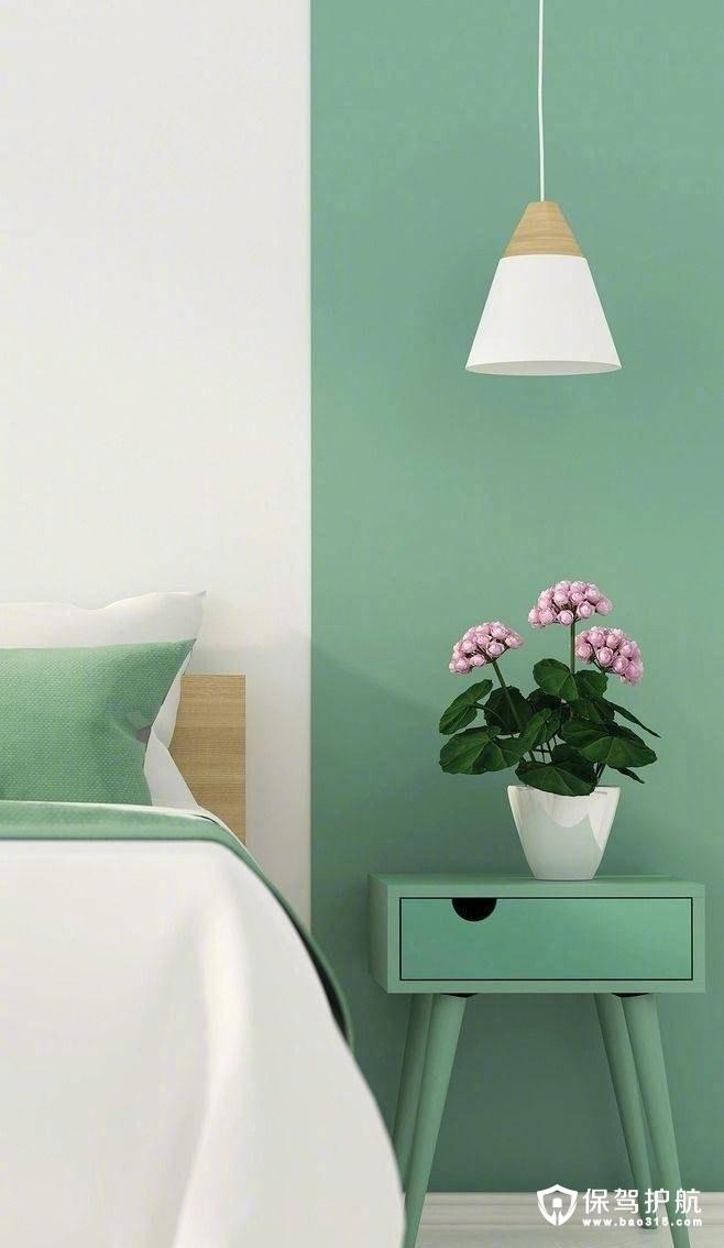 绿色调<a  href='http://www.bao315.com/fangwu/woshi'style='color:blue'>卧室装修</a>