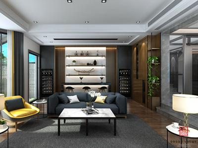【金舍装饰】滨河悦秀别墅360平米现代风格装修案例