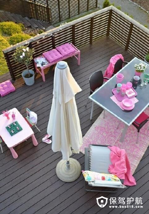 粉嫩女生最爱的阳台设计