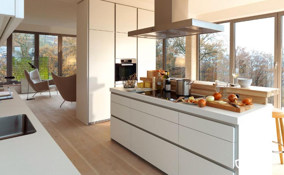现代开放式厨房效果图