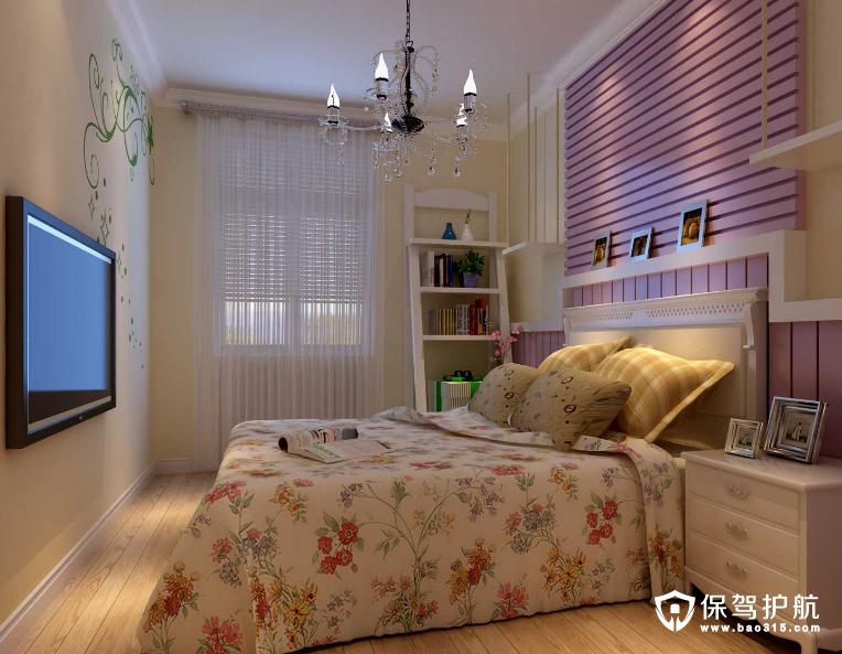 小女生粉色卧室装修效果图